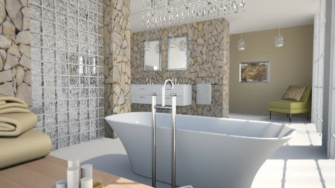 Glamorous - Glamour - Bathroom - by Milagros Rossi Martino