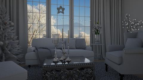 White christmas - Living room - by Tuitsi