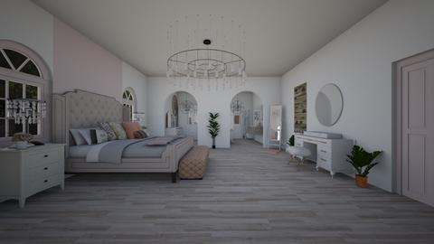 Rosy Bedroom - Feminine - Bedroom - by Joy Oke