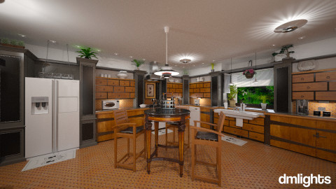 Rustic Pine - Rustic - Kitchen - by DMLights-user-981898