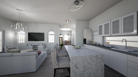 White 9 - Living room - by Niva T