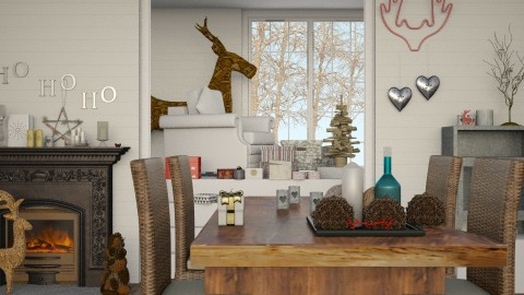HO HO HO - Minimal - Living room - by margesimpson2000