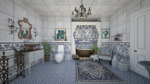 Bohemian Bath - Classic - Bathroom - by Lackew