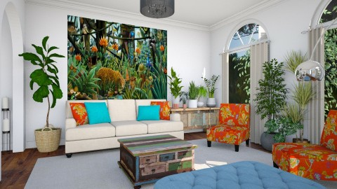 Henri Rousseau - Living room - by Lizzy0715