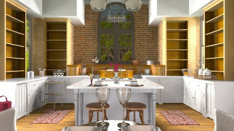 French country kitchen - Country - Kitchen - by mariagarcia11