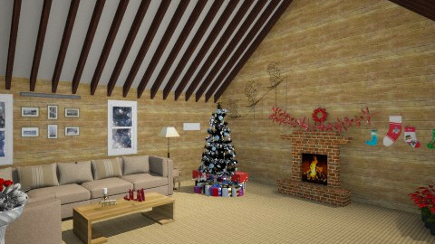 Warm Christmas - Living room - by RocketFlyer22