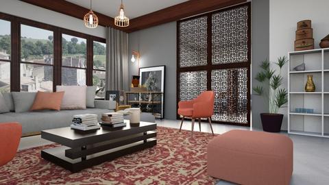 Study_Room - Living room - by ZuzanaDesign