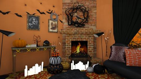 Halloween fireplace - Living room - by HIHELLOHI