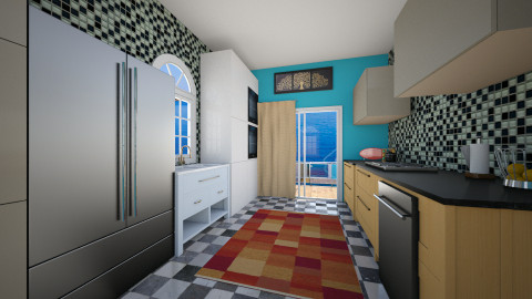 mantion kitchen - Modern - Kitchen - by mrrhoads23