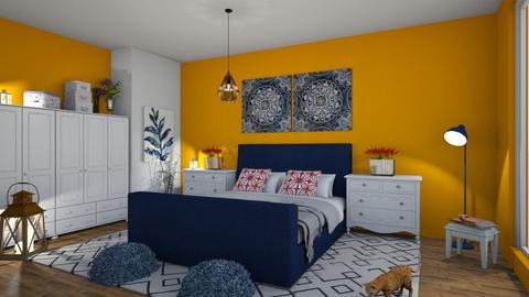 blue orange - Bedroom - by Ancy