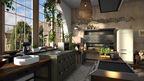 Jungle_Kitchen - Kitchen - by ZuzanaDesign