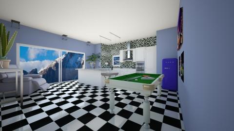 modern kitchen blue - Kitchen - by eleonoraxruc