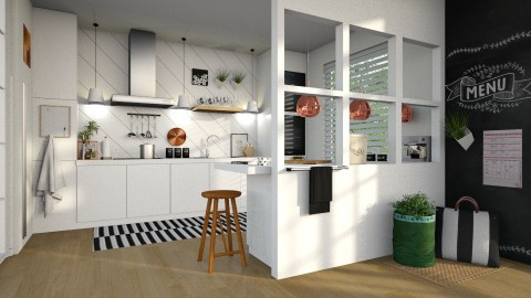 White Kitchen - by natthalie