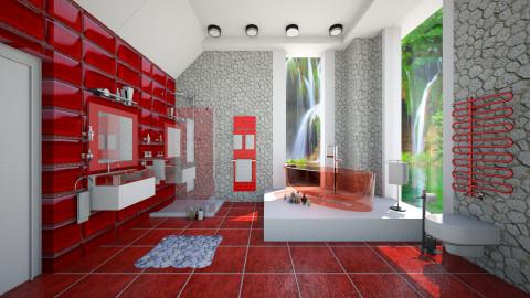 modern in red - Modern - Bathroom - by Ida Dzanovic