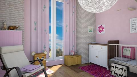 Little Butterfly - Feminine - Kids room - by timeandplace