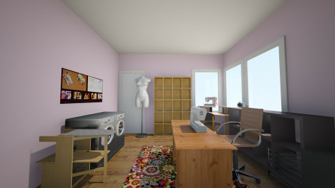 Sewing Room New Desk - by Rebecca Knight
