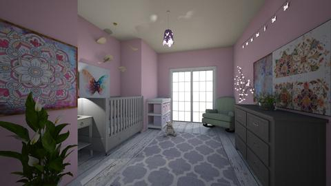 pink girl - Kids room - by emsph