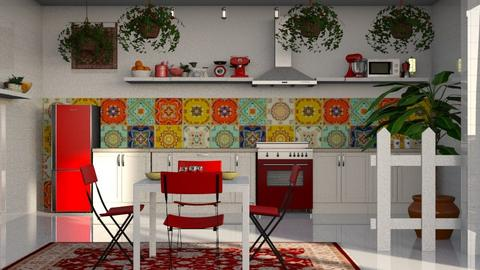 boho kitchen - Kitchen - by BortikZemec