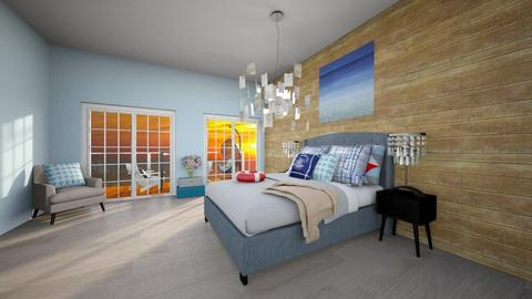 beach bedroom - Retro - Bedroom - by The vamps lover