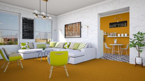 Orange Carpet - Living room - by Lizzy0715