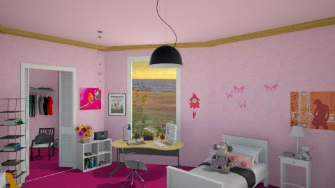 Girl room - Kids room - by starinthesky1987