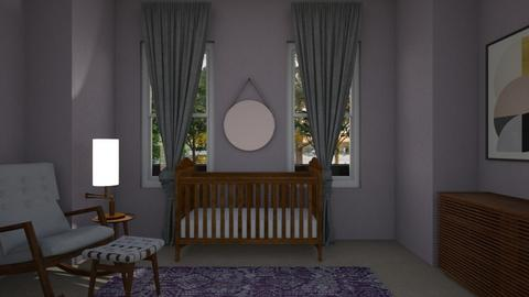 Purple Nursery - Kids room - by Katie Whitley
