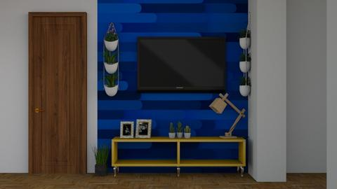 tv minimalista - Living room - by Tainaraa