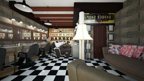 barber basement shop - Vintage - by Alexis93