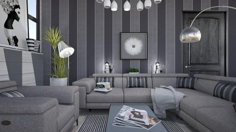 M_ Stripe2 - Modern - Living room - by milyca8