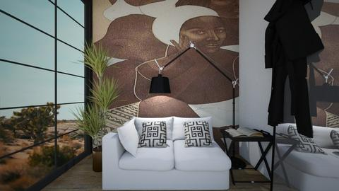 FrontViewInterior - Eclectic - Living room - by nickynunes