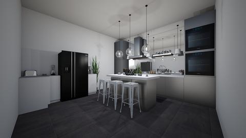 modern kitchen and plants - Modern - Kitchen - by jade1111