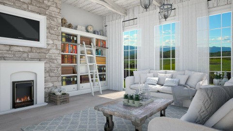 farmhouse - Country - Living room - by Malwalker02