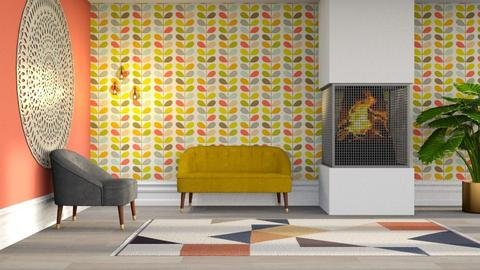 Colorful Living - Minimal - Living room - by millerfam