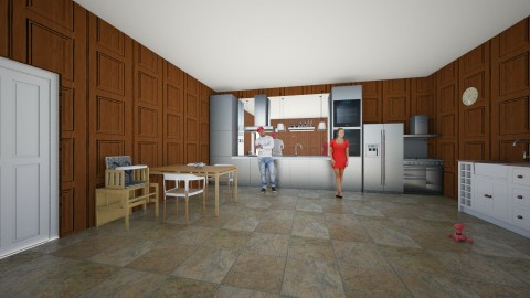 kitchen for the family - Glamour - Kitchen - by MY10096