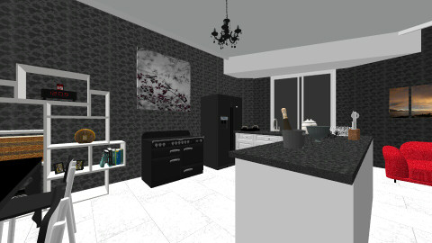 Black Kitchen - Modern - Kitchen - by siscauw