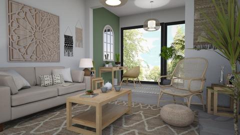 Natural Bohemian - Modern - Living room - by evemorgan96