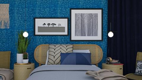Blue Night - Classic - Bedroom - by HenkRetro1960