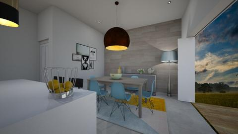 Mod Kitchen Grey White  - Kitchen - by Sanja S
