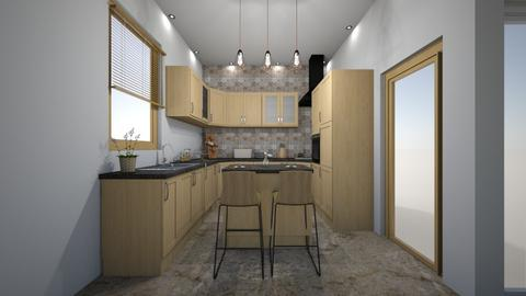 KUCHNIA Z WYSPA - Kitchen - by DERRYS