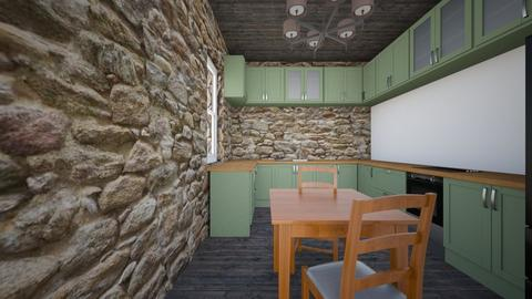 Stone Cottage_Kitch_Din - Kitchen - by SammyJPili