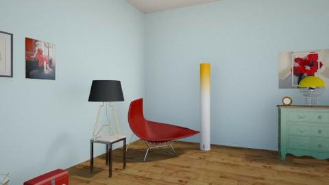 Red & Glam - Modern - Living room - by ElRoRo23