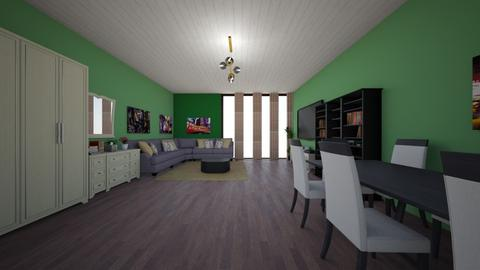 green - Eclectic - Living room - by Ritus13
