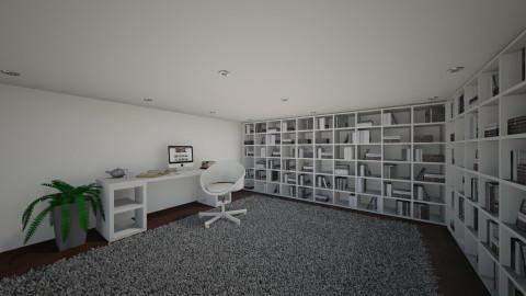 Library - Modern - Office - by Keliann