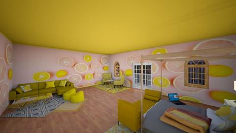 Citrus Bedroom - Bedroom - by Lemonade_