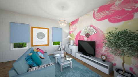 Flowers on the wall - Modern - Living room - by TARA T