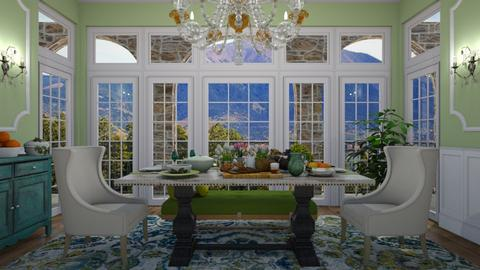 green spring - Dining room - by rickglassinteriors
