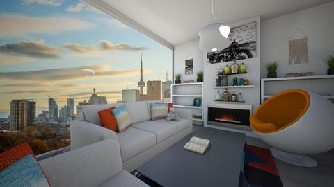 modern living room - Modern - Living room - by snazzysnail