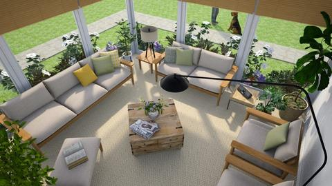 Sunroom From Above - Living room - by GraceKathryn