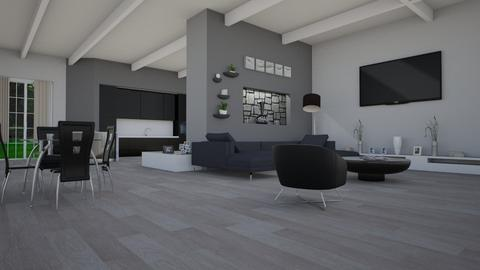Grey living - Living room - by mariateresadrago