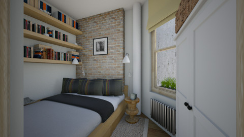 Village Apt Bedroom - Eclectic - Bedroom - by russ